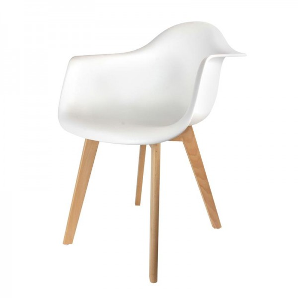 fauteuil scandinave blanc popup2you. Black Bedroom Furniture Sets. Home Design Ideas